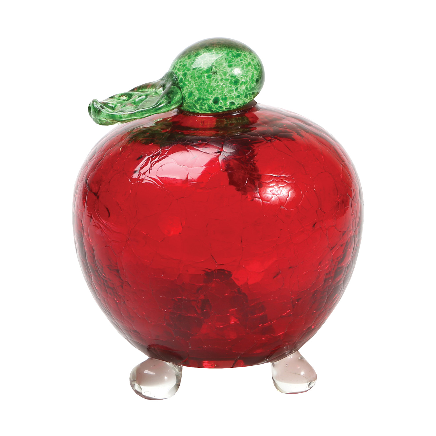 Apple Shaped Fruit Fly Trap - Crackle Glass Reusable Eco-Friendly