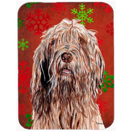 Otterhound Red Snowflakes Holiday Mouse Pad, Hot Pad Or Trivet, 7.75 x 9.25 In. - image 1 of 1