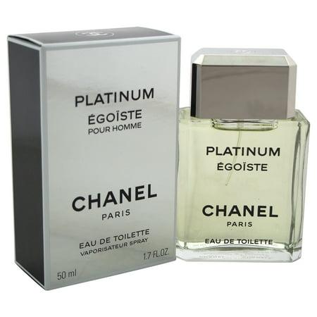 Egoiste Platinum by Chanel for Men - 1.7 oz EDT Spray (Demaquillant Chanel)