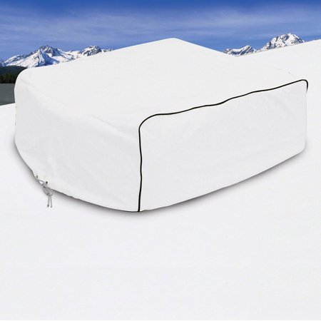 Classic Accessories OverDrive RV Air Conditioner Cover, Fits Carrier Air V, White The RV Air Conditioner Cover by Classic Accessories keeps weather, dirt and tree debris out of your RV air conditioner while blocking drafts. Sized to fit all major manufacturer RV air conditioners. When you buy a Classic Accessories RV cover you are not just getting a cover; youre also purchasing peace of mind. Not only will you be protected from the elements, but youll be protected with the easiest warranty in the industry. If your product fails within the warranty period, look for us online and take advantage of our Hassle-Free warranty program supported by our US-based customer service team.