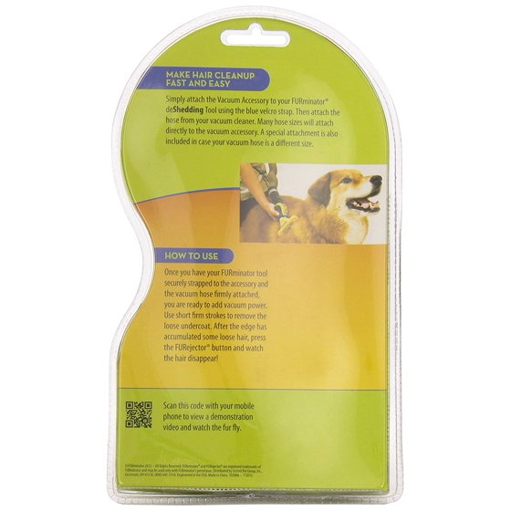 FURminator Vacuum Attachment Accessory for Dogs and Cats