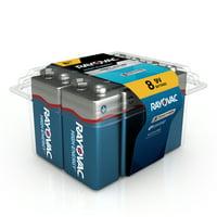 Rayovac High Energy Alkaline, 9V Batteries, 8 Count