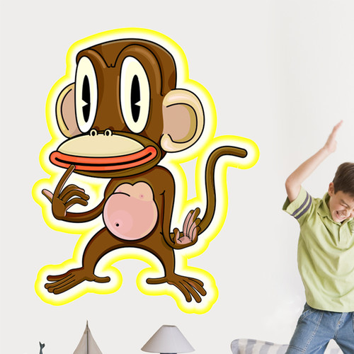 Wallhogs Pondering Monkey Cutout Wall Decal