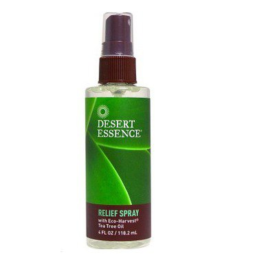 Tea Tree Relief Spray With Essential Oils Desert Essence 4 oz Spray