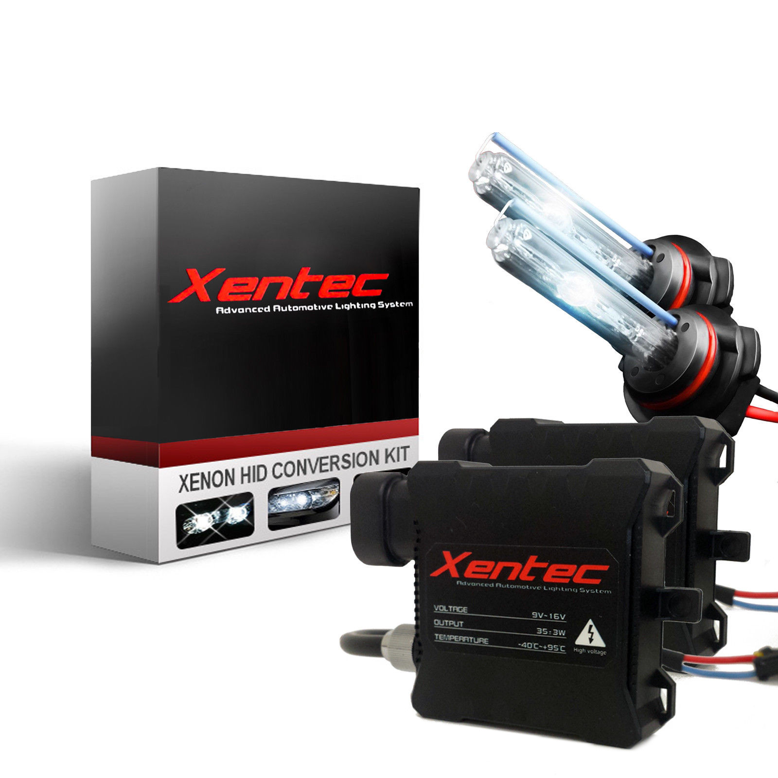 Xentec 6000K Xenon HID Kit for Toyota Yaris 2006-2017 Headlight 9003 H4 Super Slim Digital HID Conversion Lights