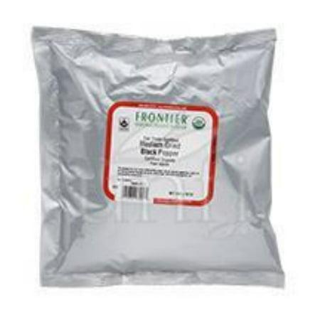 Frontier Herb Pepper - Organic - Fair Trade Certified - Black - Medium Grind - Bulk - 1 lb ()