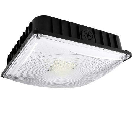 Hps Ceiling Fixture (Luxrite 45W LED Canopy Light Fixture, 5180 Lumens, 250W HID/HPS Equivalent, 5000K Bright White, DOB, 120-277V, Dimmable, IP65 Waterpoof - Gas Station, Warehouse, Garage, Outdoor Commercial)
