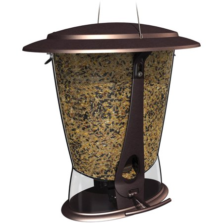 Squirrel Proof Bird Feeder (Squirrel-X Squirrel-Proof Feeder, 4 Pound Seed Capacity, 2 Feeding Ports, Squirrel-X2 )