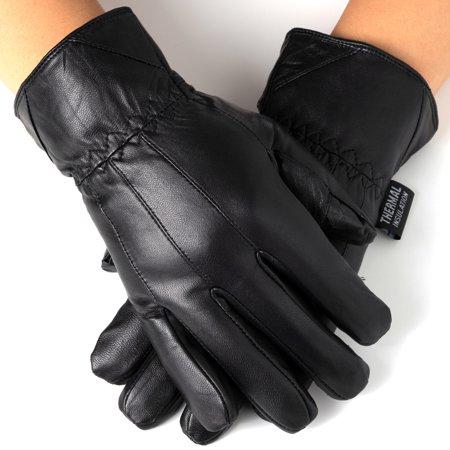 Mens Vapor Glove Shoes - Alpine Swiss Mens Touch Screen Gloves Leather Thermal Lined Phone Texting Gloves