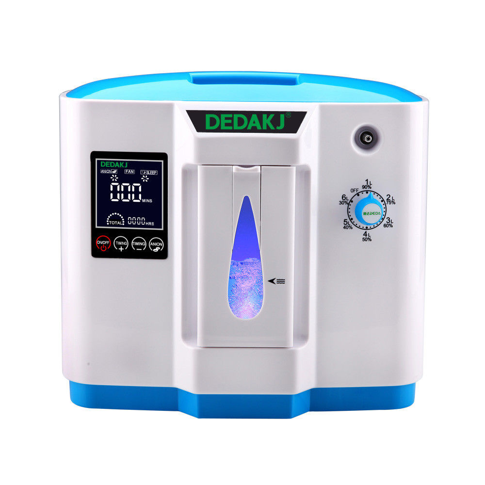 Portable 110V 1-6L Adjustable Oxygen Concentrator O2 Air Generator Oxygen Machine for Household Home Use for the Aged, Pregnant Women, and Patient