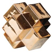 Urban Trends Collection: Ceramic Sculpture, Polished Chrome Finish, Gold