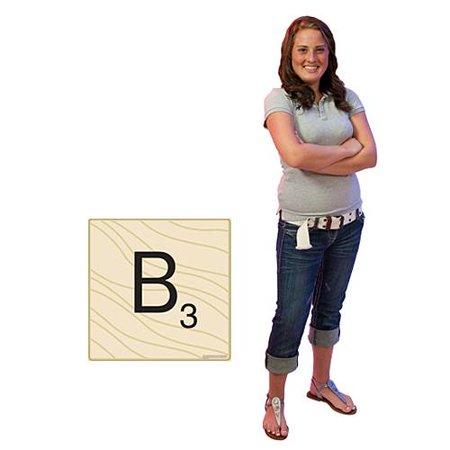 2 FT. 6 IN. HASBRO SCRABBLE LETTER B STANDEE - Cardboard Letters