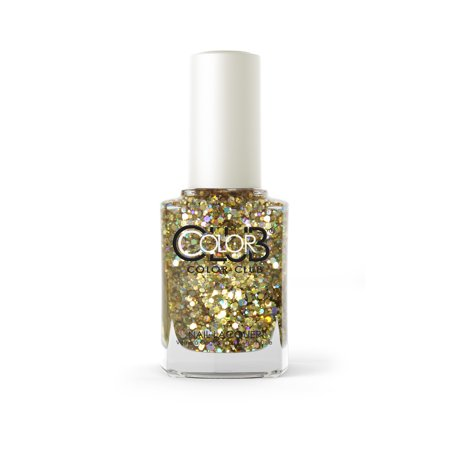 Color Club Glitter Nail Polish, Fortunate](Halloween Glitter Nail Polish)