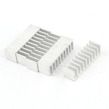 5 Pieces Silver Tone Aluminum Radiator Heat Sink Heatsink 35mm x 10mm x 10mm - image 1 of 1