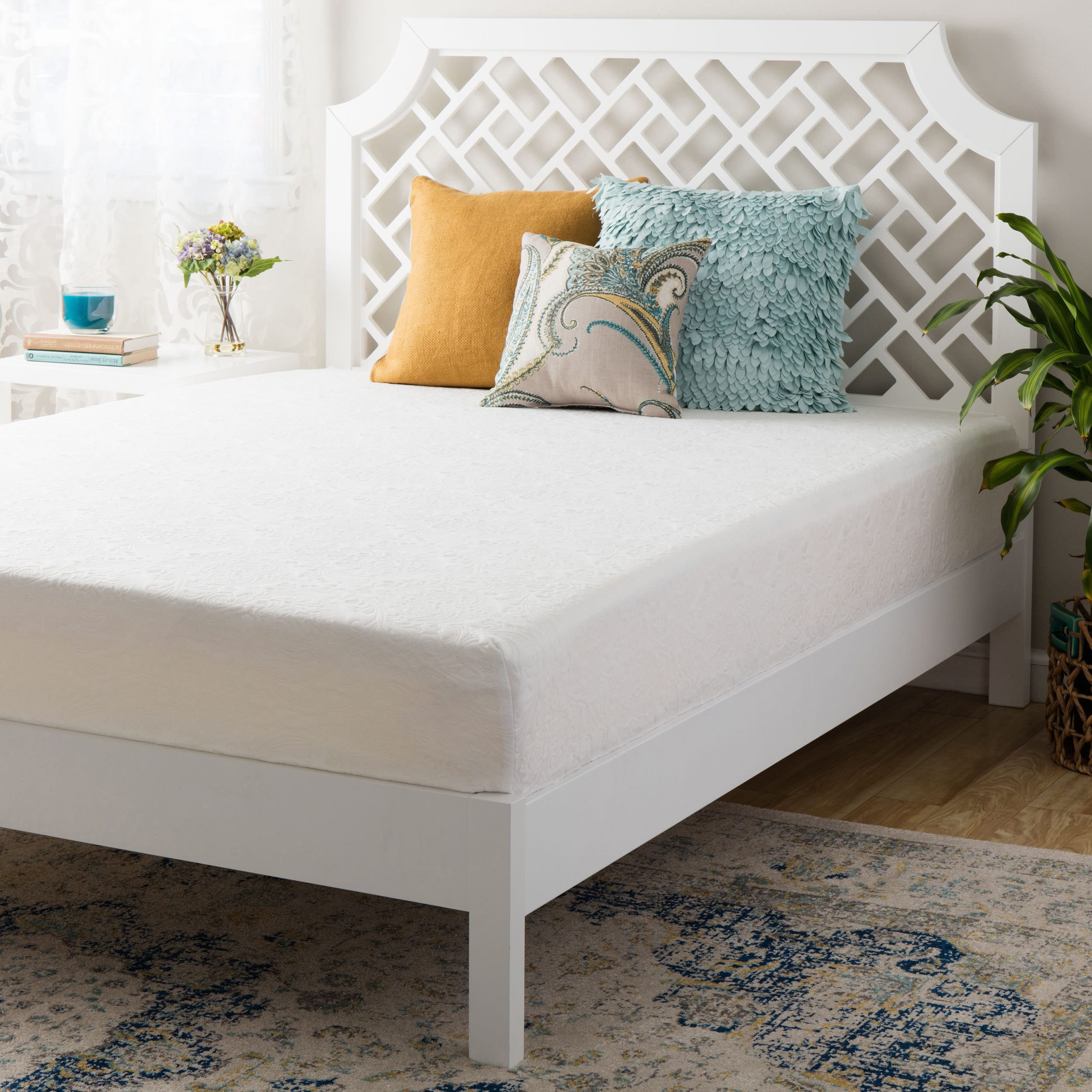 Orthosleep Product Double-Layered 14-inch California King-size Firm Memory Foam Mattress