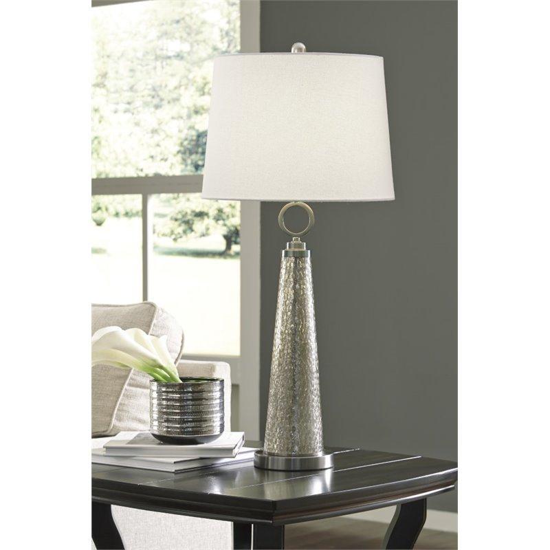 Ashley Arama Glass Table Lamp in Mercury Glass - image 1 de 2