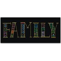 "Trademark Fine Art ""Bright Folklore Family"" Canvas Art by Wild Apple Portfolio"