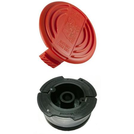 Cap + Line Spool for Trimmer for Black & Decker AF-100 385022-03 HOG (Black And Decker Grass Hog Trimmer Line Replacement)