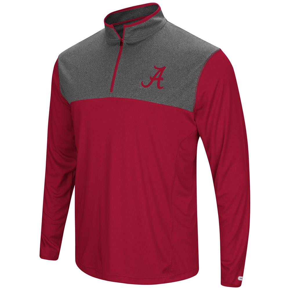 Mens Alabama Crimson Tide Quarter Zip Wind Shirt - S