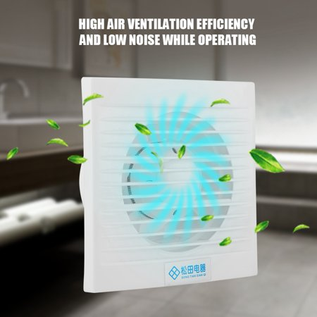 12w 220v wall mounted exhaust fan low noise home bathroom kitchen garage air vent ventilation - Kitchen Exhaust Fans Wall Mount