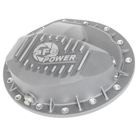 aFe Power 46-70370 Street Series Differential Cover; Rear; 4 Qt. Lube Capacity; Raw Finish w/Machined Fins; For Use w/9.5-14 Bolt Pattern; Afe Differential Covers