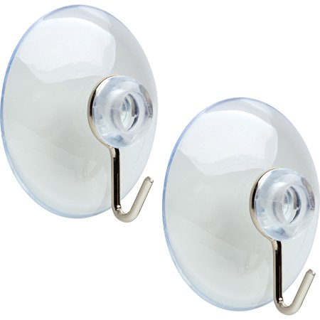 Arrow Medium Suction Cup Hooks, 8-Pack, 2 pack ()