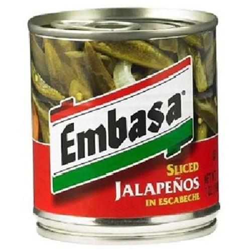 Embasa BG12726 Embasa Sliced Jalapeno Pep - 12x7OZ