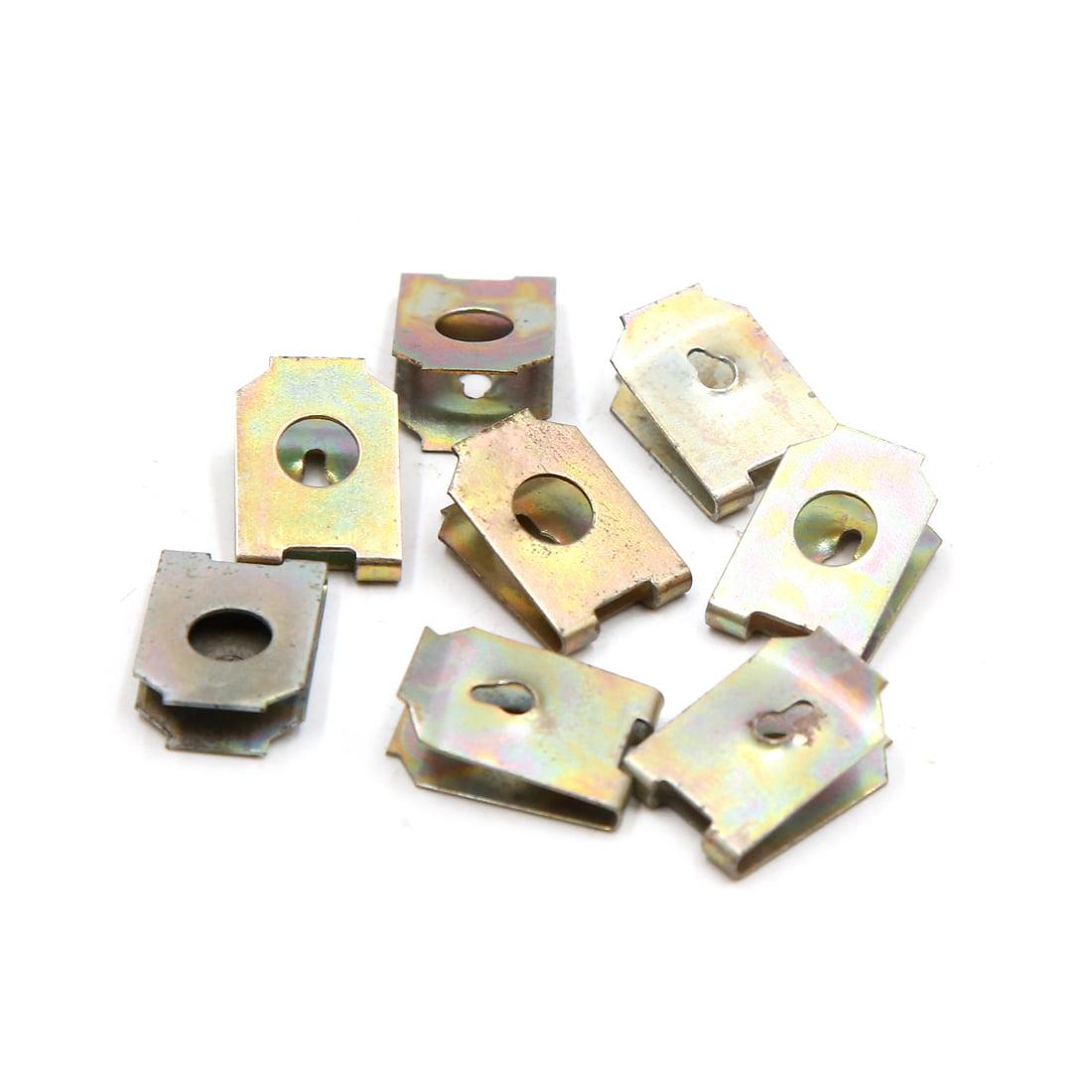 8Pcs 6mm Hole Dia Metal Rivets U-Type Clips Retainers Car Bumper Fastener