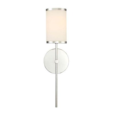 Nicollet Chrome One Light Wall Sconce With Etched Opal Gl Shade