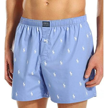 Polo Ralph Lauren Polo Player Woven Boxer, M, Beach Blue ()