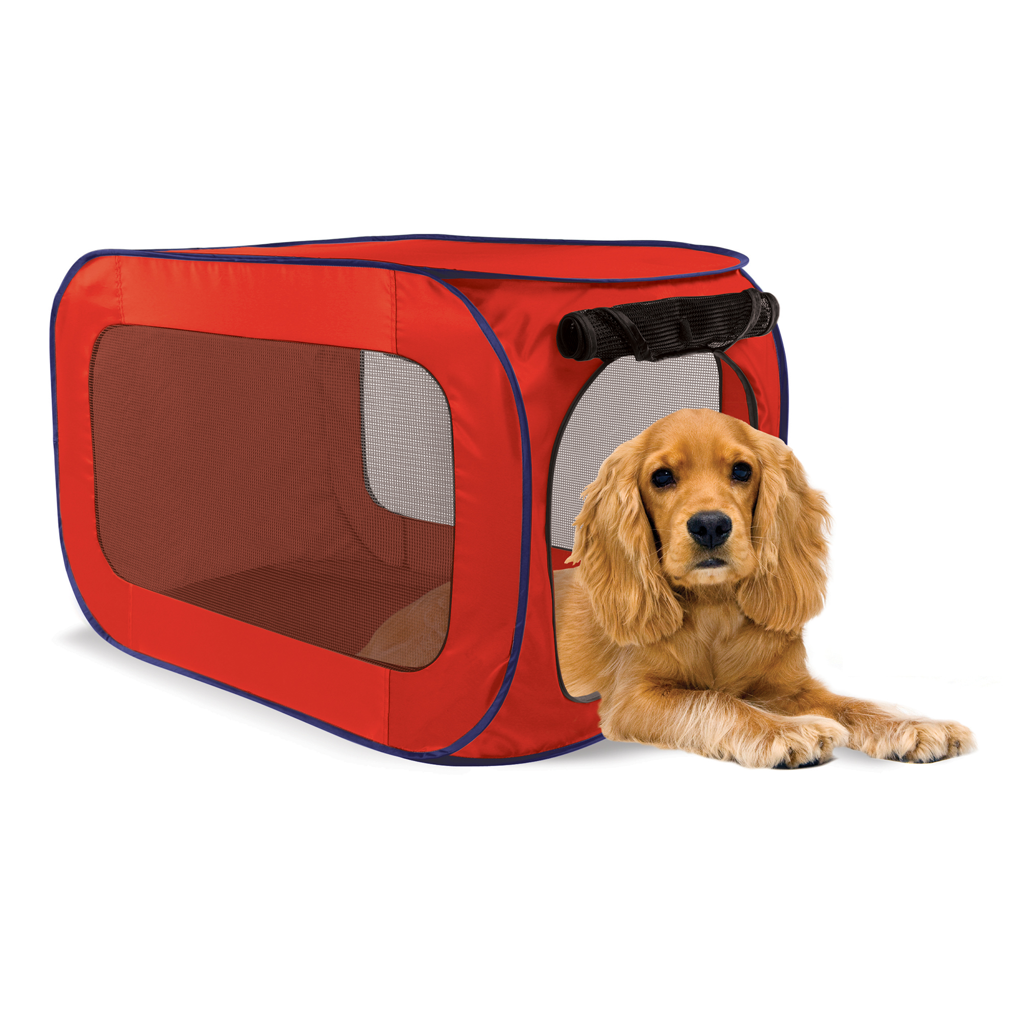 SportPet Pop-Open Kennel, Travel Dog Crate , Medium Size ( For Kennel Trained Pet Only )