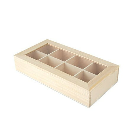 Loose Leaf Organizer (Green Tea Gift Box, Wooden Magnetic Closure Organizer Storage Loose Leaf Tea Box (Sold by Case, Pack of 4))