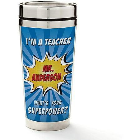 Personalized Super Teacher Travel Mug,