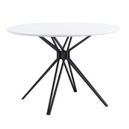 Round Contemporary Natural - Atticus Round Dining Table, Multiple Finishes