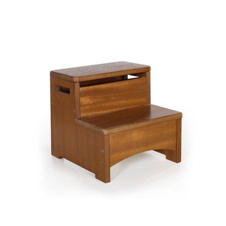 Astonishing Rosebery Kids Storage Step Stool In Walnut Machost Co Dining Chair Design Ideas Machostcouk