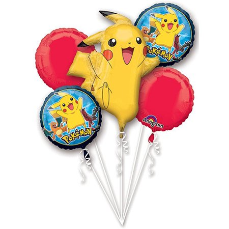 Pokemon Character Authentic Licensed Theme Foil Balloon Bouquet - Candy Themed Balloons