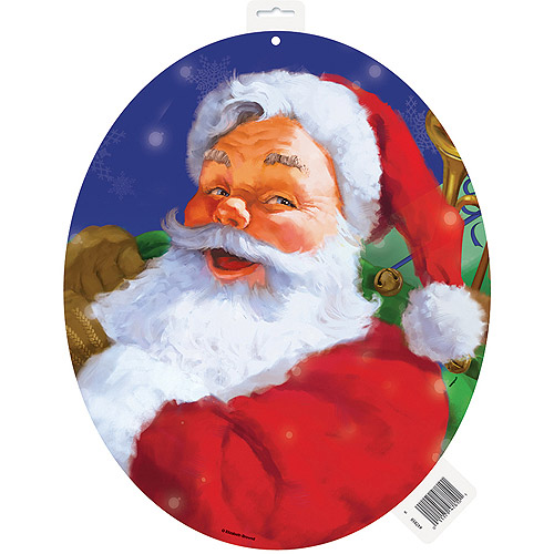 Holiday Santa Claus Christmas Cut Out Decoration