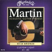 Martin 80/20 Bronze Custom Light Gauge Acoustic Strings