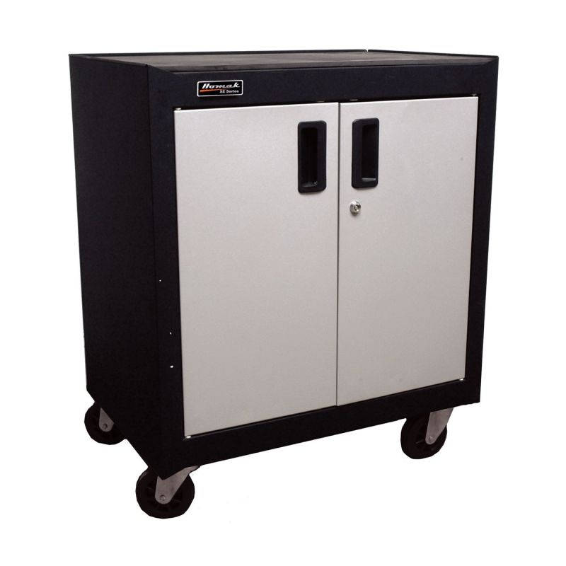 Homak GS04002270 Garage Series Two-Door Mobile Cabinet with Gliding Shelf