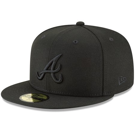 Atlanta Braves New Era Primary Logo Basic 59FIFTY Fitted Hat - Black