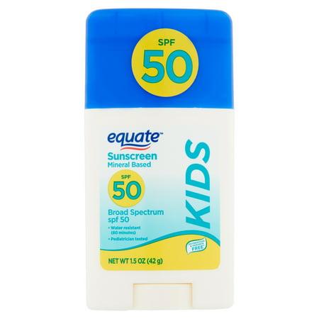 Spf 15 Base (Equate Kids Mineral Based Broad Spectrum Sunscreen Stick, SPF 50, 1.5)