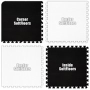 Alessco SFBKWE2226 22 ft. x 26 ft. Set- Black & White Checkerboard