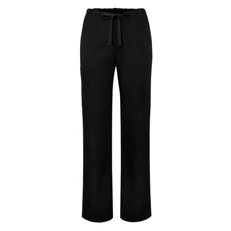 Drawstring Unisex Pants (Adar Universal Unisex Natural-Rise Drawstring Tapered Leg Pants - 504 - Black - 5X )