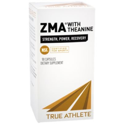 True Athlete ZMA With Theanine  Combination of Zinc  Magnesium To Help Increase Muscle Strength  Power, NSF Certified For Sport (90