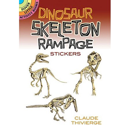 Dinosaur Skeleton Rampage Stickers - Dinosaur Stickers