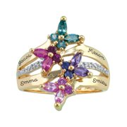 Personalized Family Jewelry Meadow Birthstone Mother's Ring available in Sterling Silver, 10kt Gold over Sterling Silver, 10kt or 14kt Yellow or White Gold