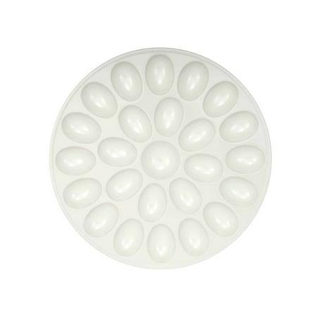 Serveware Zak Design White Deviled 24 Egg Tray (Multipack of 3) - Halloween Entertaining Serveware