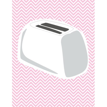 Toaster Picture Pink Chevron Design Background Kitchen D?cor Home Art Decoration Inspirational Motivational Poster (Chevron Pictures)