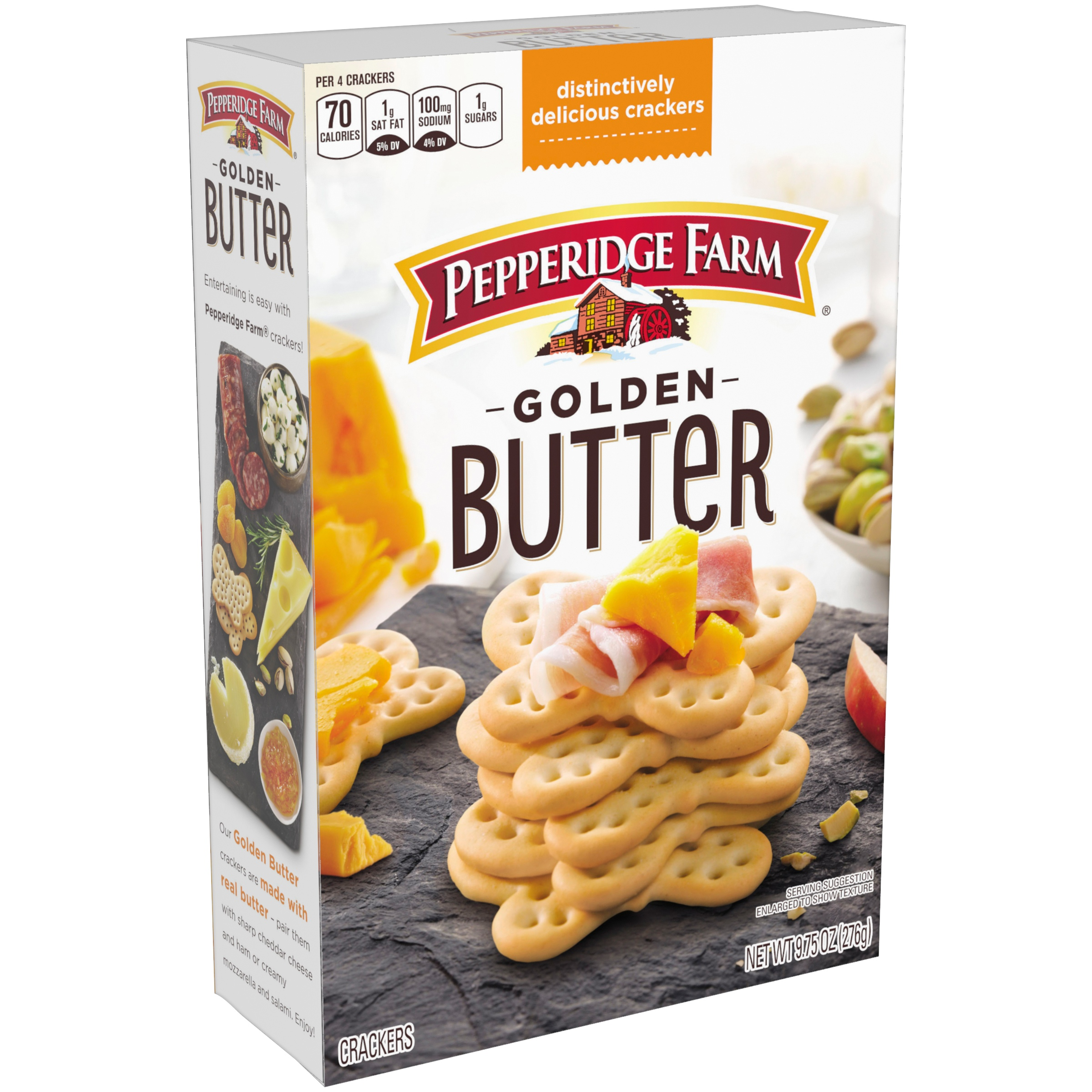 (2 Pack) Pepperidge Farm Golden Butter Crackers, 9.75 oz. Box