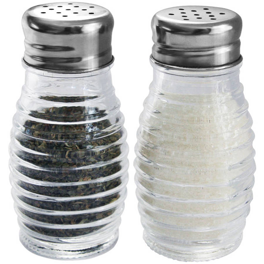 Home Basics 2-Piece Glass Beehive Salt and Pepper Set by Generic